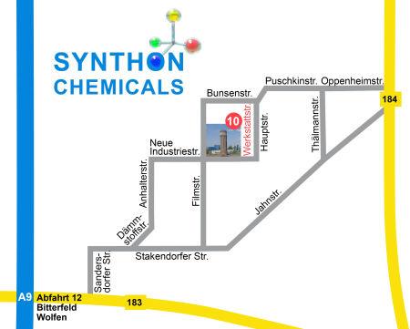 Lage im Chemiepark Bitterfeld-Wolfen, Areal A in Wolfen